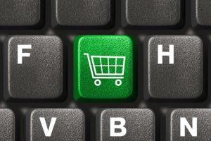 Nákupný košík na klávesnici